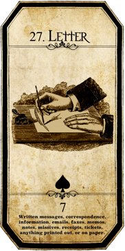 list tarot lenormand